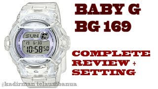 REVIEW + COMPLATE SETTING BABY G SERIES BG 169R