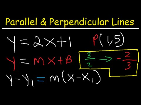Writing Equations Of Lines Parallel And Perpendicular To A Given