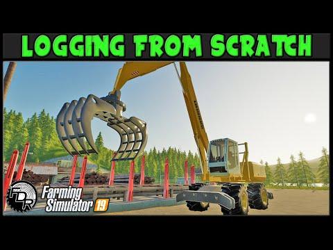 Logging From Scratch #25 | Rogue River | Farming Simulator 2019