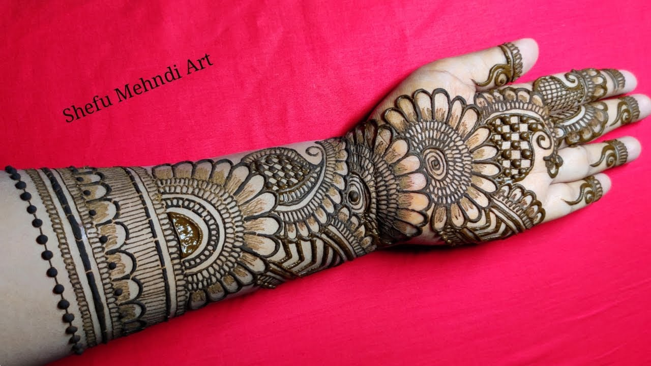 mehandi design arabic full hand