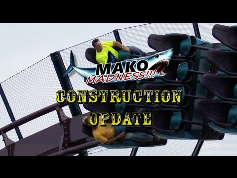 SeaWorld Orlando Mako Construction Update 4.25.16 HUMAN TEST DUMMIES!