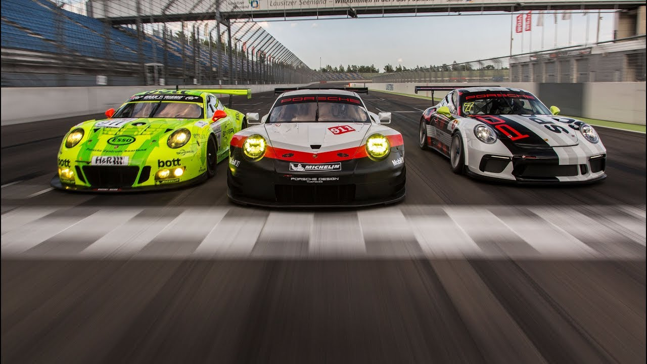 Porsche Motorsport Track Test 911 Rsr The 911 Gt3 R And The 911 Gt3 Youtube