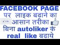 [Hindi] how to increase Facebook page like 100% working trick