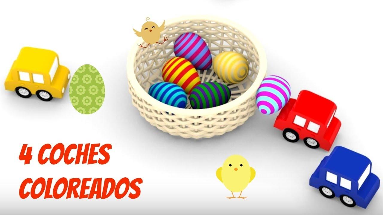4 coches y los huevos de pascua 2017 colores para ni os for Coche huevo