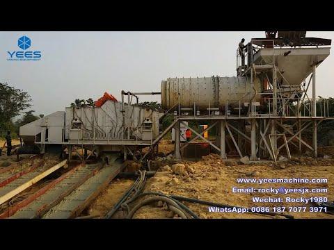 Modular alluvial gold ore mining process plant