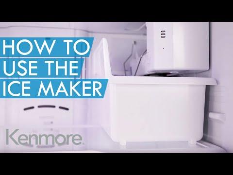 kenmore elite ice maker hookup