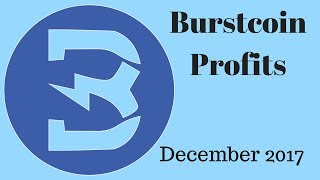 Burstcoin Mining Profit in December 2017 and All 2017