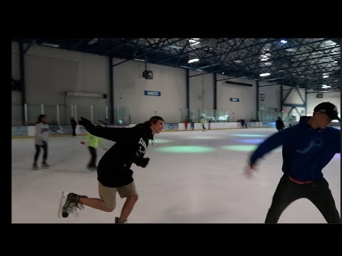 hockey players trying to figure skate?!?!