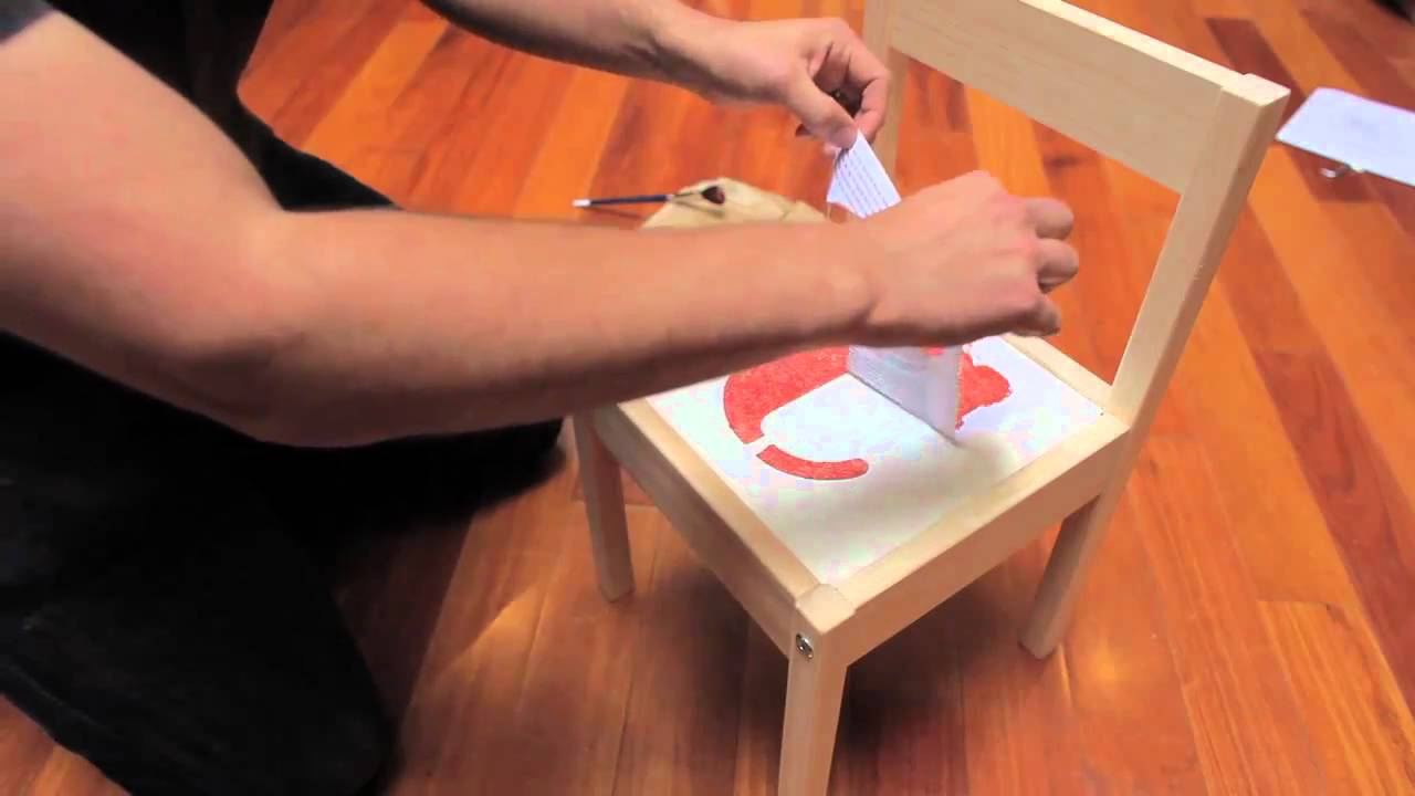 Build and customize children 39 s chairs and table from ikea long version - Customiser table ikea ...