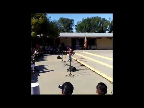 USA National Anthem, Los Angeles, Smaran playing flute,DOWNEY UNSWORTH ELEMENTARY SCHOOL July 4 2019