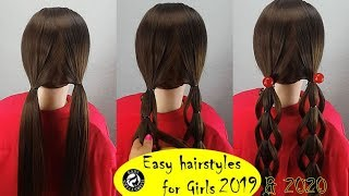 Three-piece braided hairstyle | Easy hairstyles for long hair - how to braids my hair