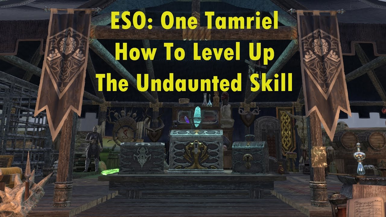 ESO: How-to Level Undaunted Skill Line (UPDATED: September 2019