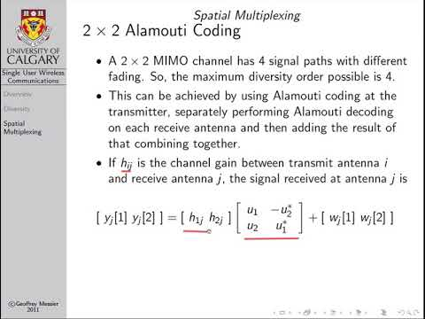 Wireless Communications: Spatial Multiplexing