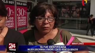 Identifican a mujer que discriminó a otra en banco de Miraflores