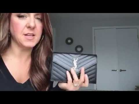 3b50b6128b60 Review of my Saint Laurent YSL wallet on chain and what can fit ...