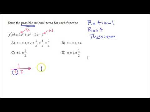 U3P1 Commonly Missed   Possible Rational Zeros A