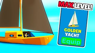 Getting MAX LEVEL FISHING BOAT in roblox