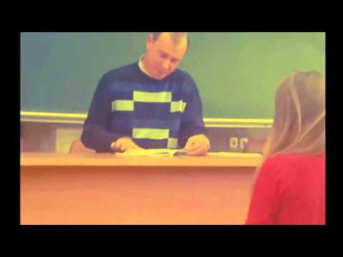 Funny Video Teacher checks lectures
