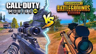Call of Duty Mobile vs. PUBG Mobile! - Which One Is Better? (Battle Royale Comparison)