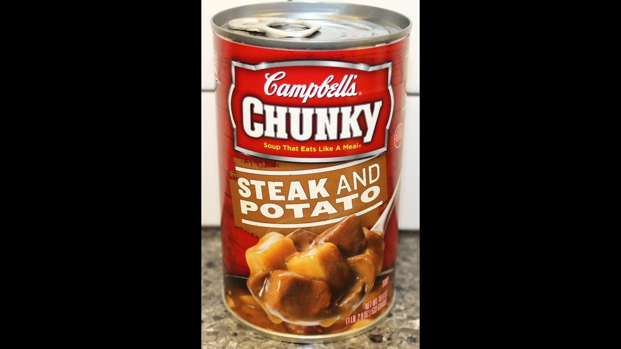 Campbell S Chunky Soup Steak And Potato Review Youtube