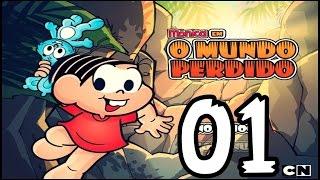 Mônica Em O Mundo Perdido #01 : MAGALI COMEU AS FRUTAS DO MONTRO ( A Turma Da Mônica  )