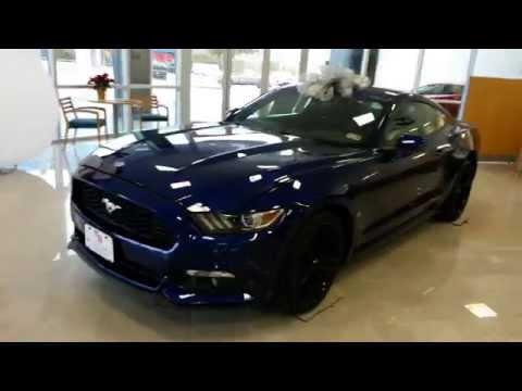 Video Walk Around Deep Impact Blue 2015 Ford Mustang Premium Shaker