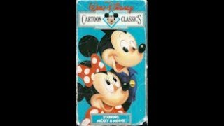 Opening & Closing To Walt Disney Cartoon Classics: Heres Mickey And Minnie 1987 VHS