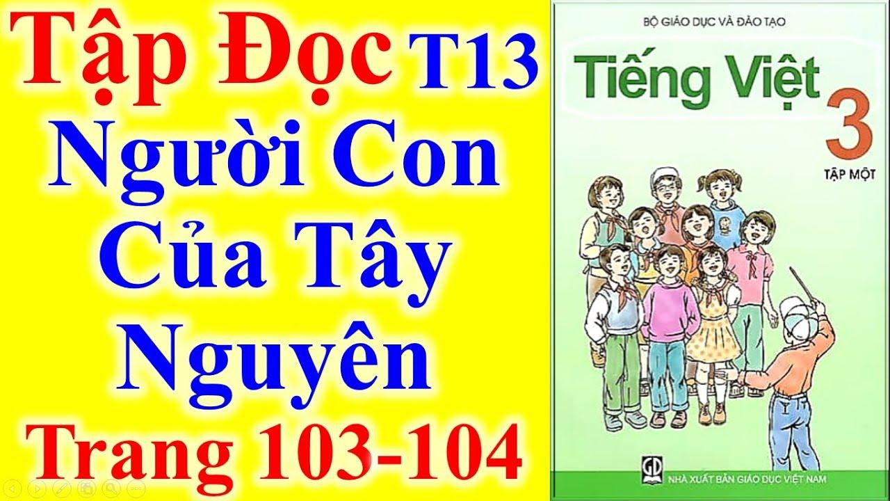 Tiếng Việt Lớp 3 Tuần 13 Tập Đọc – Người Con Của Tây Nguyên – Trang 103 – 104