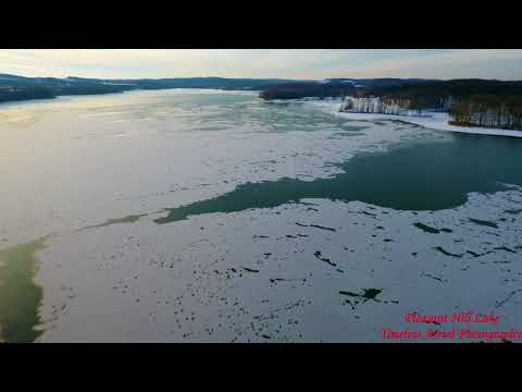 Winter Fly Over Of Pleasant Hill Lake Aerial Tour