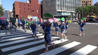 ちびっ子のすずめ踊り 山鉾巡行@東二番丁通 (仙台青葉まつり2012)