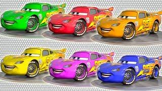 Мультфильмы для детей - Учим цвета с #Молнией Маквин! Видео для детей и новинки от Анимашки