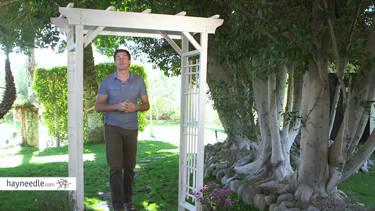 White Wood Arbor   Product Review Video