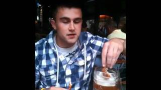 How To Eat A Pretzel With German Beer