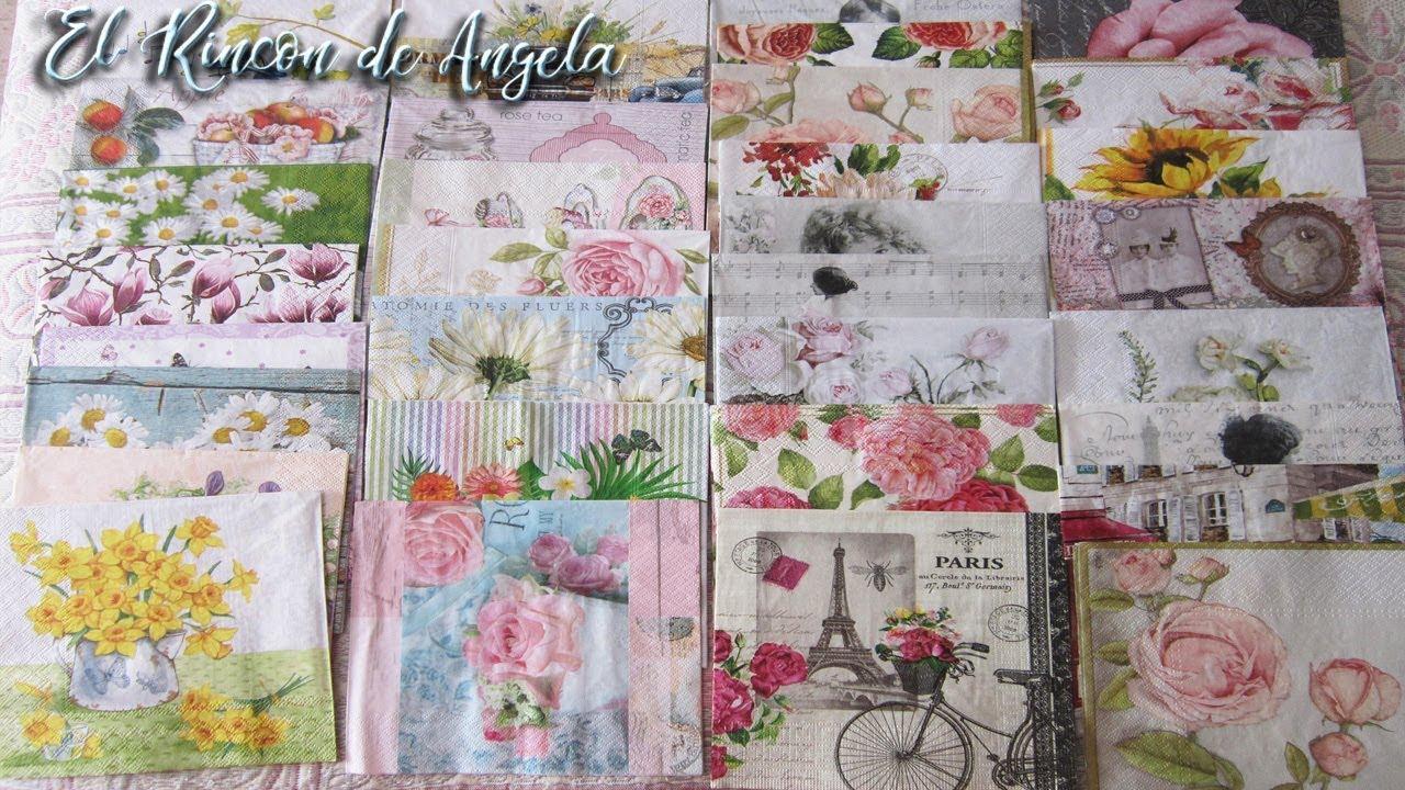 Decoupage servilletas decoradas para trabajos de febrero - Servilletas de papel decoradas para manualidades ...