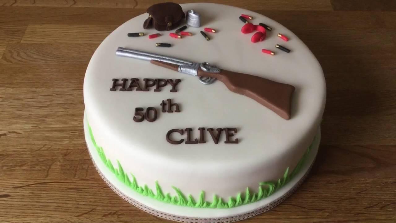 Shooting Birthday Cake