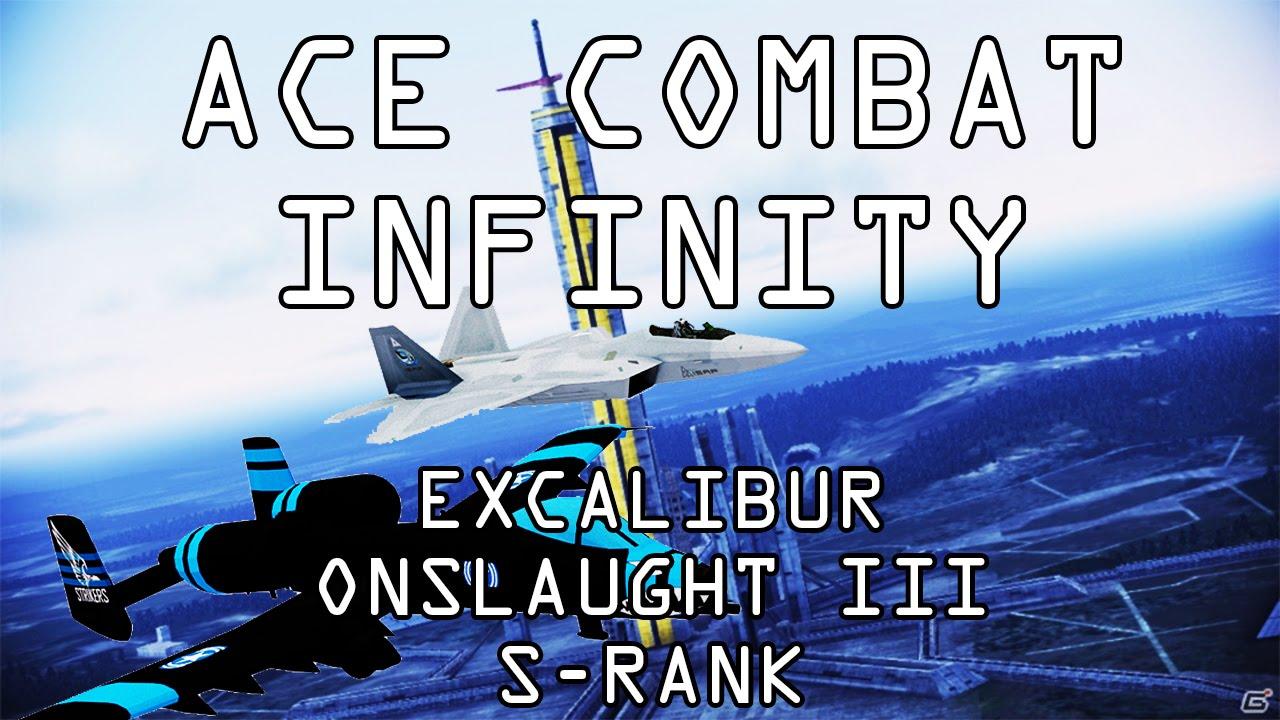 Video Ace Combat Infinity Excalibur Onslaught Iii Ex3 Gold S