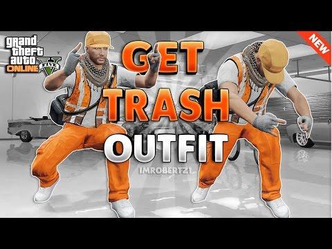 Trash Man Glitch Outfit Tutorial! Modded Orange Tryhard Clothing GTA 5 Glitches