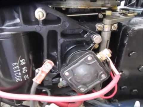 25 hp Johnson Battery cable repair - YouTube