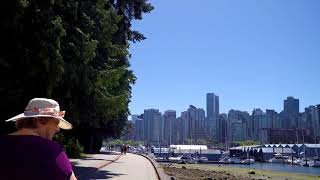 Walk Around STANLEY PARK - Walking in Vancouver BC Canada - Waterfront Summer Tour