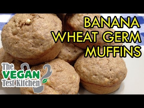 banana berry wheat germ muffins