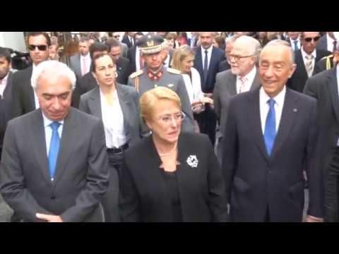Visita de Michelle Bachelet a Évora