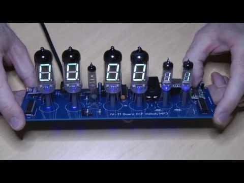 VFD Nixie Ära - IV-11 Quarz,  melody, MP3, DCF