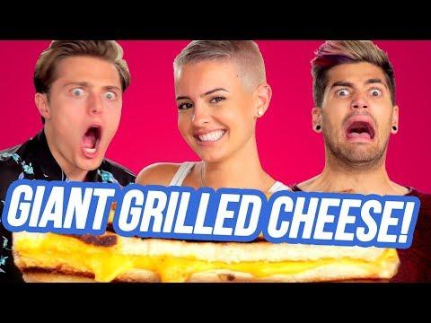 GIANT GRILLED CHEESE CHALLENGE w/ Lisa Cimorelli, Rajiv Dhall, Brian Redmon