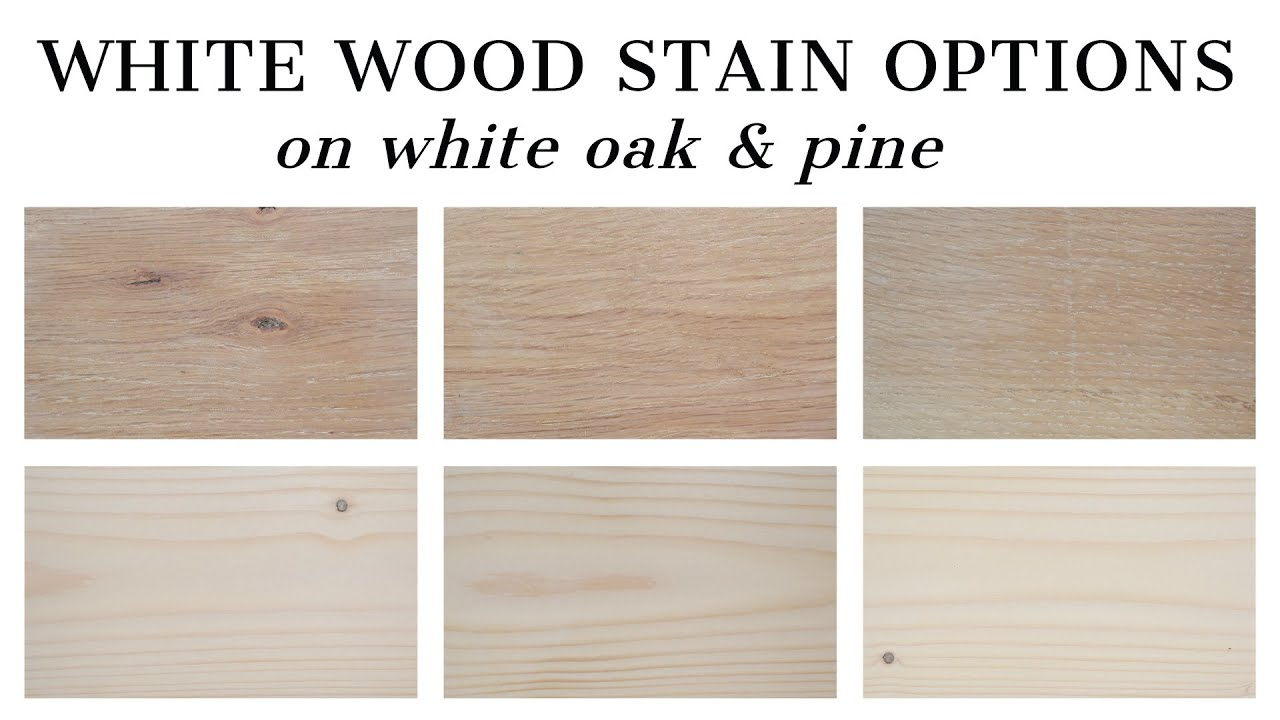 3 White Wood Stain Options Angela