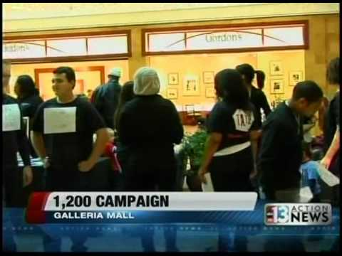 Teen Advocates- 1,200 Campaign at the Galleria Mall