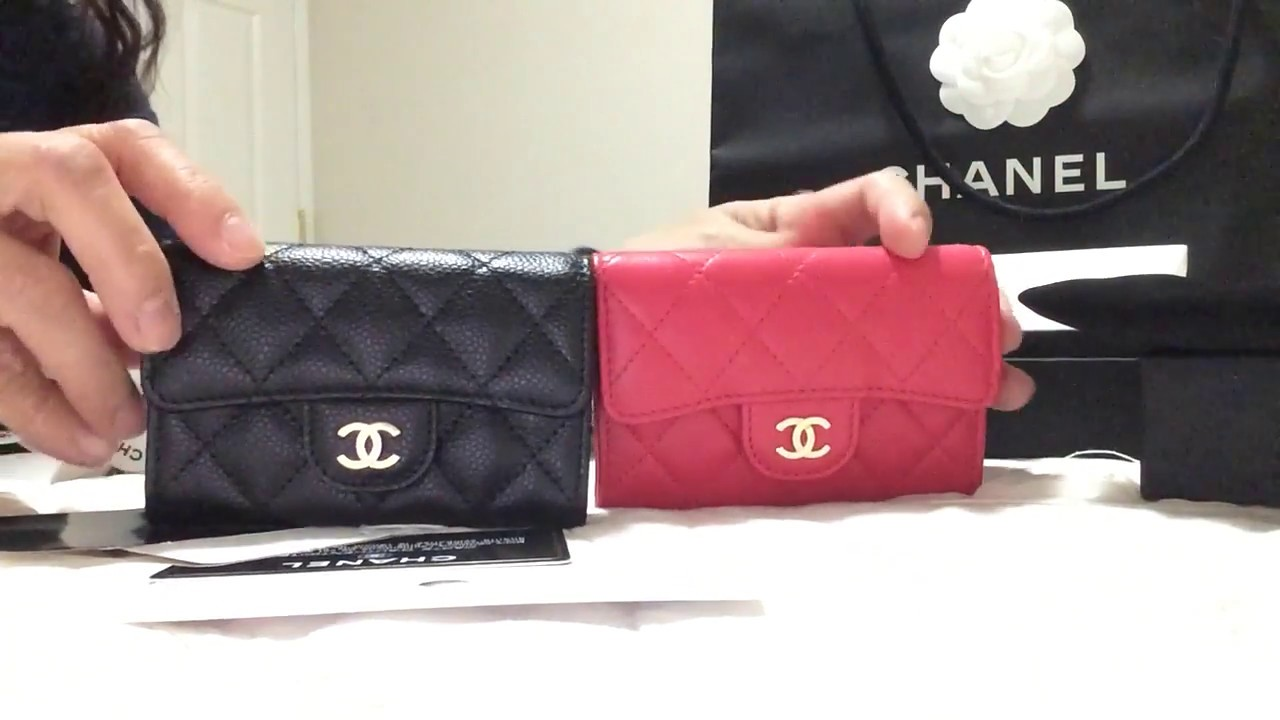 bce505c6c96f Chanel Card Holders in black & red color - YouTube