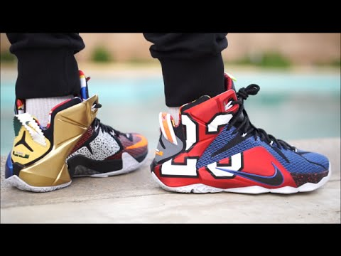 sports shoes fe082 e2d58 ... canada lebron 12 what the on feet foot detailed look 9160b bde57
