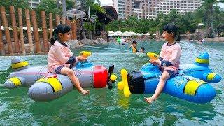 หนูยิ้มหนูแย้ม   เครื่องบินเป่าลมฉีดน้ำ Inflatable Plane Water Fighter