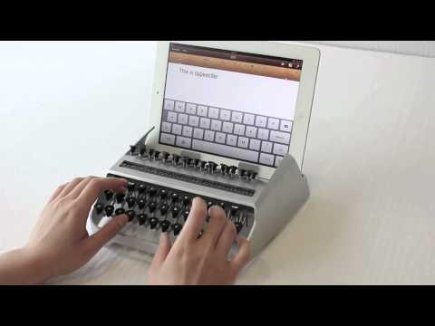 Пишущая машинка для планшета.