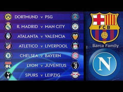 Итоги жеребьевки 1/8 финала Лиги Чемпионов | Барселона - Наполи
